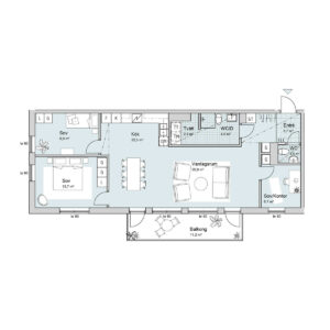 Ferrum lägenhet a1002 planlösning