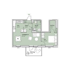 Ferrum lägenhet a1101-1201 planlösning
