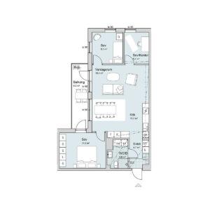 Ferrum lägenhet a1104-1204 planlösning