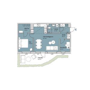 Ferrum lägenhet b1001 planlösning