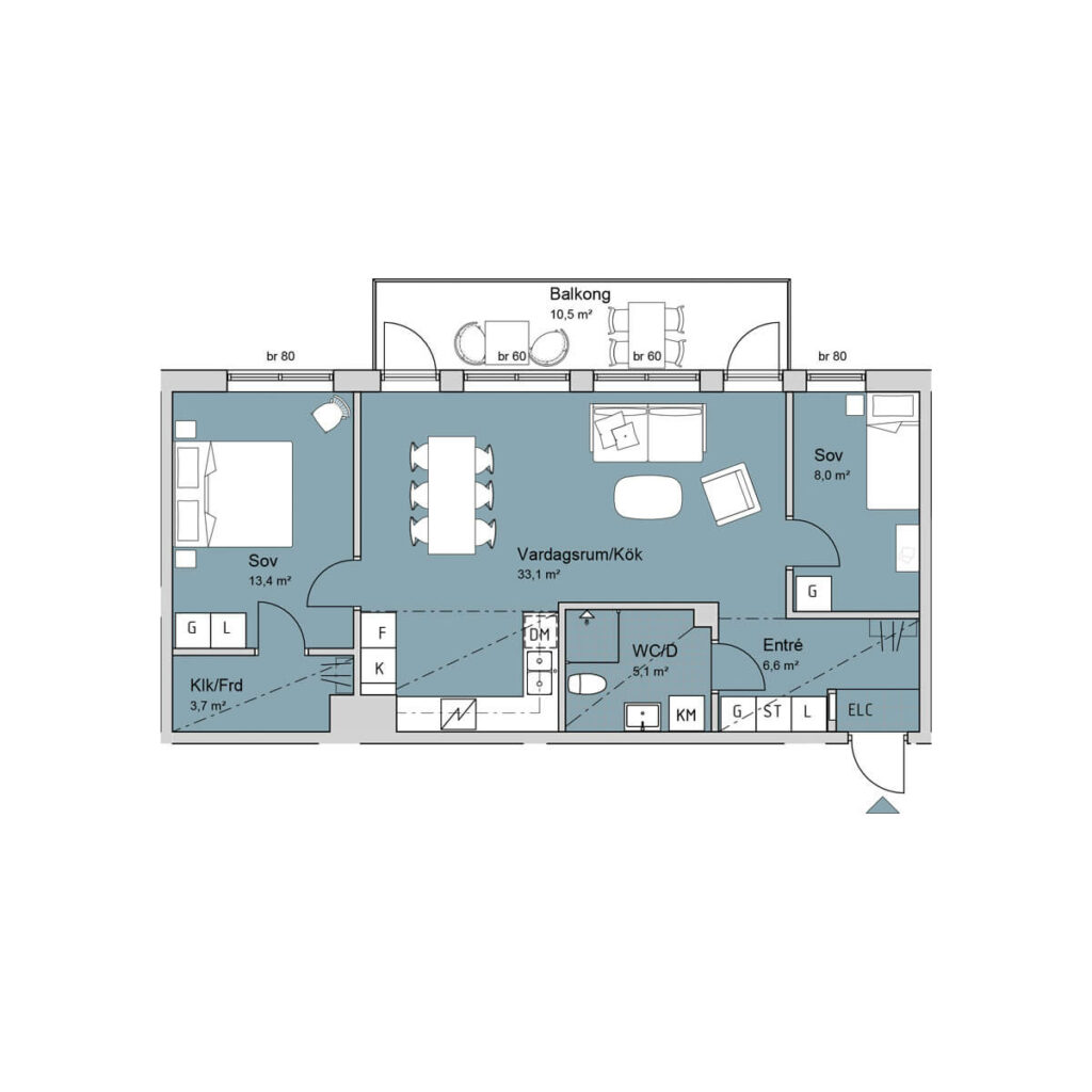 Ferrum lägenhet b1102-1202-1302 planlösning