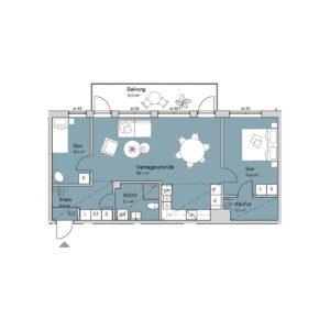 Ferrum lägenhet b1103-1203-1303 planlösning