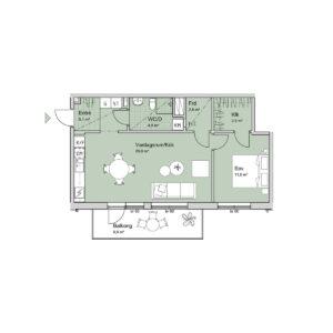 Ferrum lägenhet b1204-1304 planlösning
