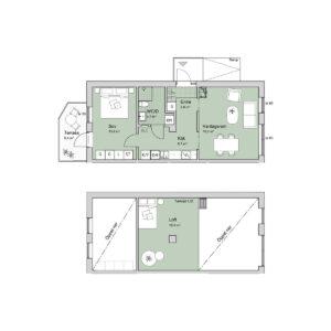 Ferrum lägenhet c1003 planlösning