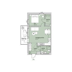 Ferrum lägenhet c1201-1301 planlösning
