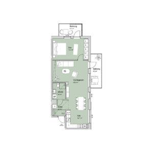 Ferrum lägenhet c1202-1302 planlösning