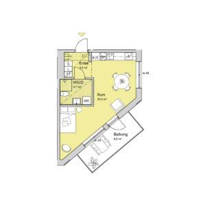 Ferrum lägenhet c1203-1303-1402 planlösning